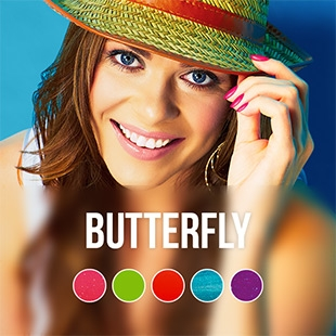 Butterfly gel nail polish color collection