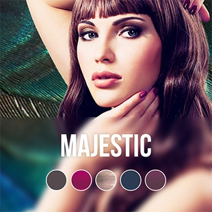 Majestic gel nail polish color collection