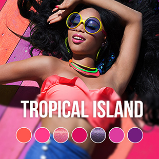 Tropical Island gel nail polish color collection