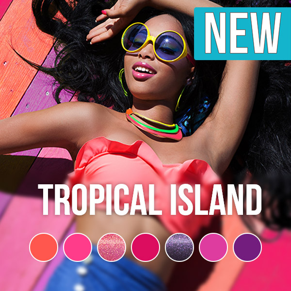 Pink Gellac Tropical Island Color Collection